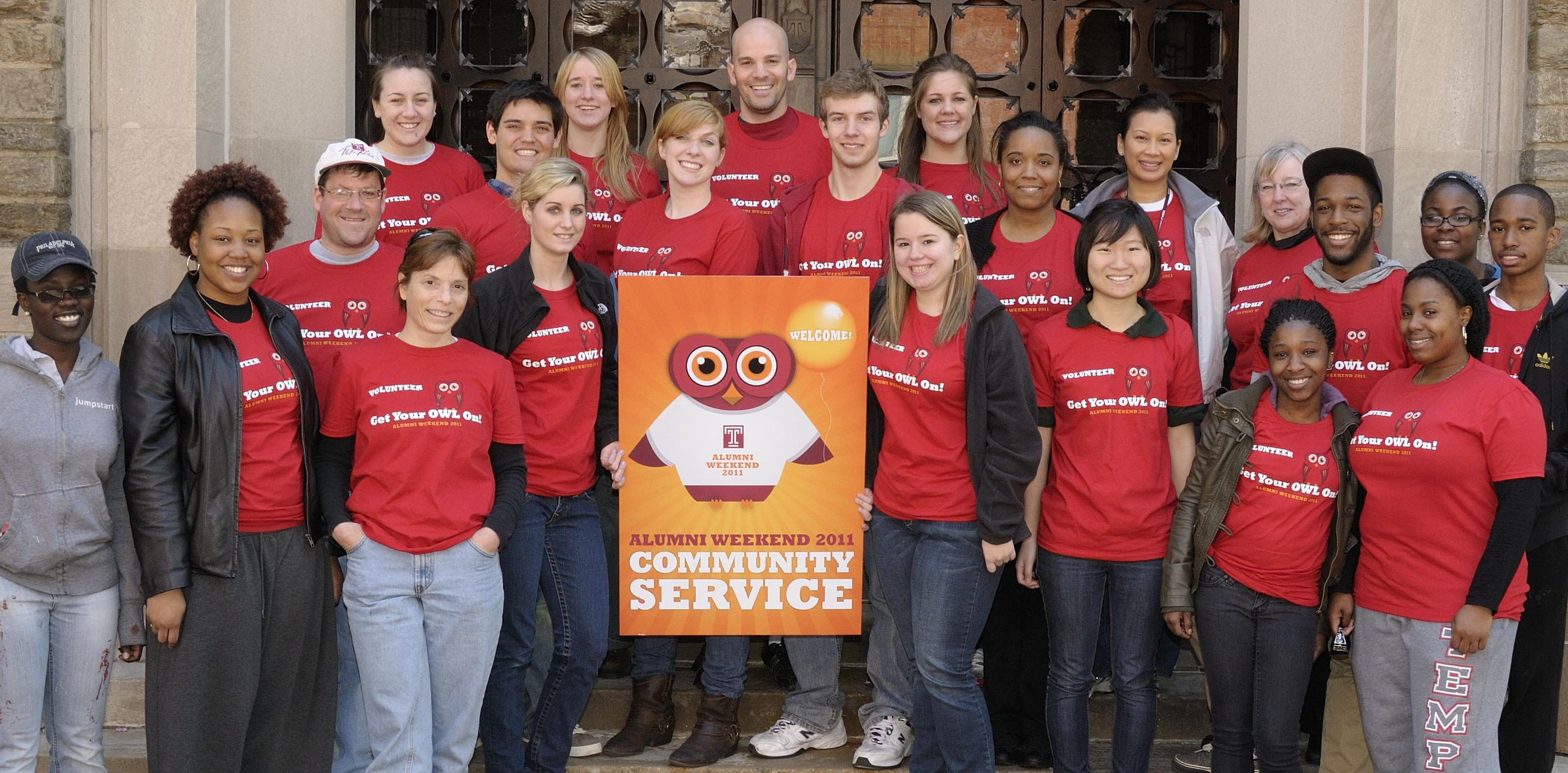 Community Service group from Alumni Weekend